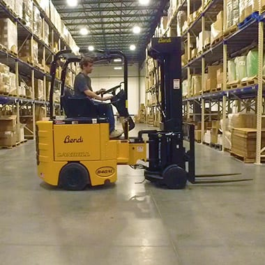 Warehousing and Fulfillment | Pharmatechlabs® image of a forklift moving supplements